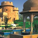 A picture taken at Rajvilas Jaipur on bespoke luxury holiday with Greaves India