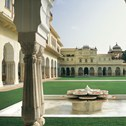A picture of the Taj Rambagh Palace Gardens taken on a luxury Greaves India holiday